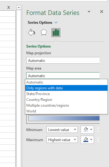 Screenshot of setting map area to only regions with data